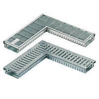 Дренажный желоб SitaDrain угловой, с сетчатой решеткой, оцинк. сталь, ширина 150мм, 500х500мм, высота 40мм, фото 1