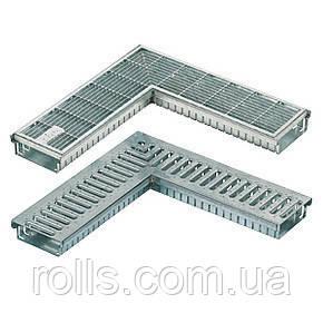Дренажный желоб SitaDrain угловой, с сетчатой решеткой, оцинк. сталь, ширина 150мм, 500х500мм, высота 50мм