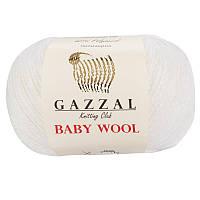 Пряжа gazzal baby wool 801 в моточках для ручного вязания