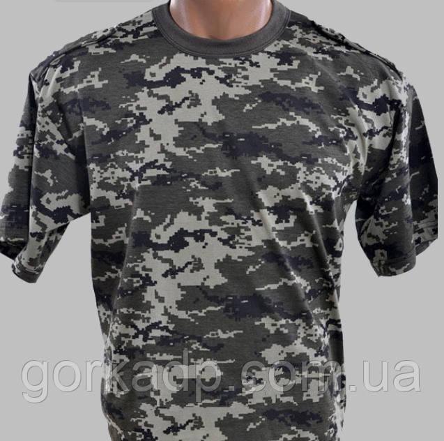 Армейская камуфляжная футболка ВСУ пиксель пограничник -  Торгово-производственная компания