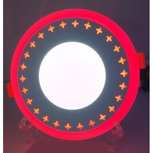 LED панель Lemanso LM535 Звезды круг 3+3W красная подсветка 350Lm 4500K