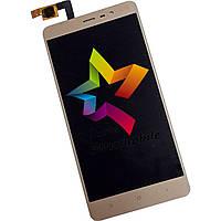 """Дисплей к мобильному телефону Xiaomi redmi Note 3 Pro 5.5"""" 150*73 мм, золотой, с тачскрином"""