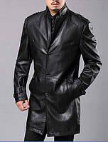 Удлиненная кожаная куртка мужская