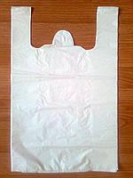 Пакет майка белый 30х50 см/30 мкм без печати, белые пакеты купить Киев от производителя