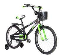 """Велосипед двухколесный Kids Bike  16"""" , с корзинкой,  салатовый"""
