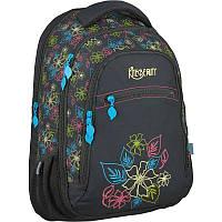 Рюкзак Kite K16-870L-2 Beauty-2 черный два отдела школьный подростковый для девочек 44х31х19см