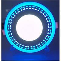 LED панель Lemanso LM554 Кубики круг 3+3W синяя подсветка 350Lm 4500K, фото 1