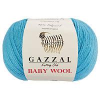 Пряжа gazzal baby wool 820 в моточках для ручного вязания