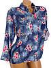 Свободная рубашка с цветочным принтом (в расцветках 38, 44), фото 3