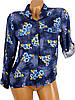 Свободная рубашка с цветочным принтом (в расцветках 38, 44), фото 6