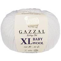 Пряжа gazzal baby wool 801 XL в моточках для ручного вязания