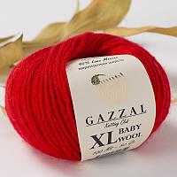 Пряжа gazzal baby wool 811 XL в моточках для ручного вязания
