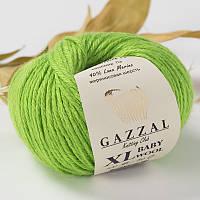 Пряжа gazzal baby wool 821 XL в моточках для ручного вязания