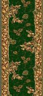 Ковровая дорожка Gold листья и ветки - зелёный