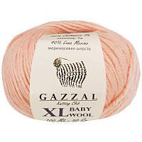 Пряжа gazzal baby wool 834 XL в моточках для ручного вязания
