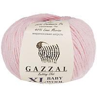 Пряжа gazzal baby wool 836 XL в моточках для ручного вязания