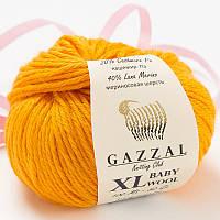 Пряжа gazzal baby wool 837 XL в моточках для ручного вязания