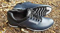 Мужские кожаные кроссовки New Man blue, фото 1