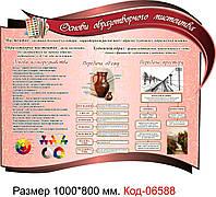 """Пластиковий стенд """"Образотворче мистецтво"""" Код-06588"""