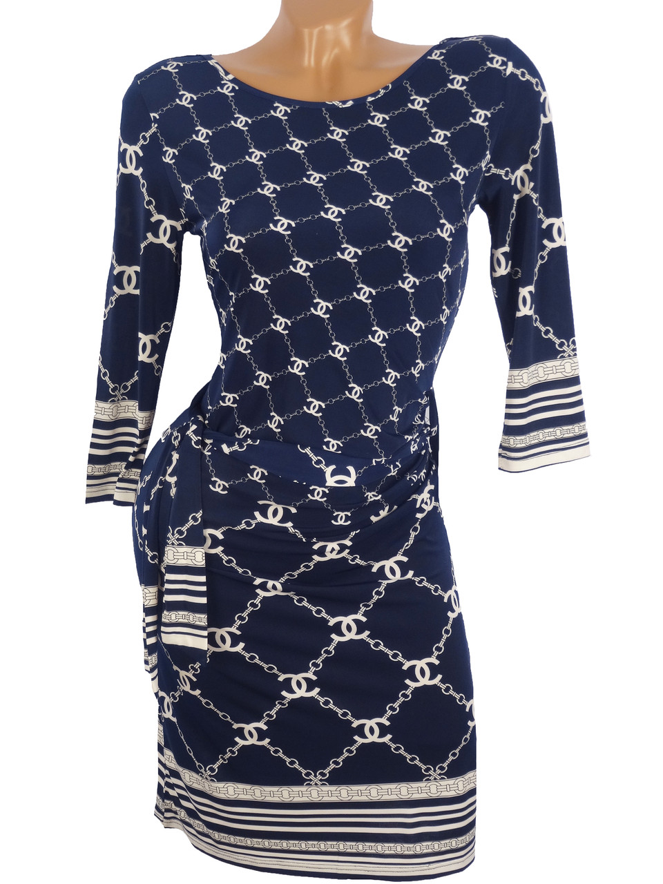 Оригинальное женское платье со стразами (44,46)