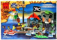 Конструктор Brick 309 Бухта Пиратов 206 деталей