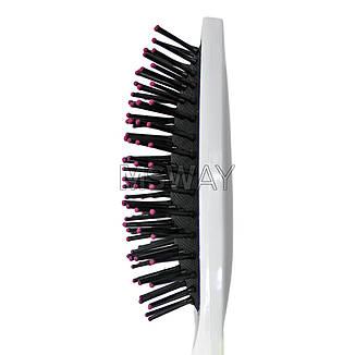 Luxury Расческа массажная HB-02-05 цветная средняя овальная пластик-зубья, фото 2
