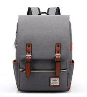 Городской рюкзак молодежный Retro GREY 136