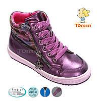 Демисезонная обувь оптом. Ботиночки для девочек оптом от производителя Tom.m 1774B (8 пар, 27-32)