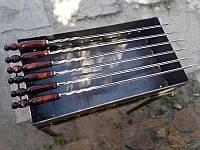 Набор шампуров треугольных в чехле кожзам(6шт, 3мм, 70см)