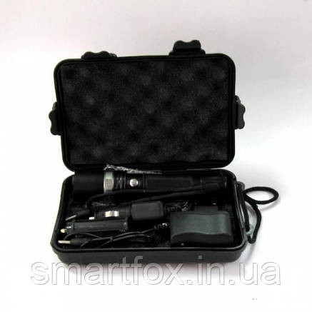 Фонарик 110 светодиодный с ЗУМ и аккумулятором , фото 2