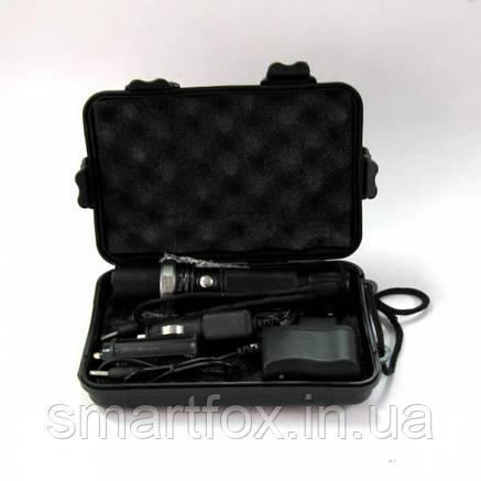 Фонарик 110В светодиодный с ЗУМ и аккумулятором , фото 2