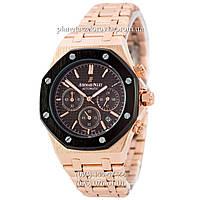 Мужские кварцевые наручные часы Audemars Piguet Royal Oak AA Gold-Black-Black-Bronze