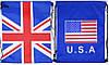 """Сумка для обуви 422-2 """"Английский, Американский флаг"""" 34х43см 2вида уп12"""