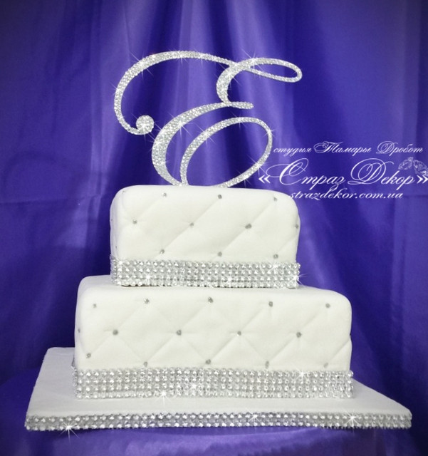 ТОППЕРЫ в стразах для свадебного торта