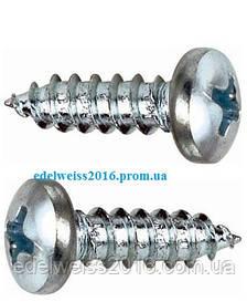 Саморез с полукруглой головкой (DIN 7981) 2,2х 6,5 (1000 шт/упак.)
