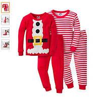 Пижама мальчику детская пижама новогодняя комплект 4-предмета Gerber, фото 1