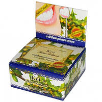 Популярная отбеливающая зубная паста на основе масла гвоздики и тайских трав Koi Herbal Toothpaste