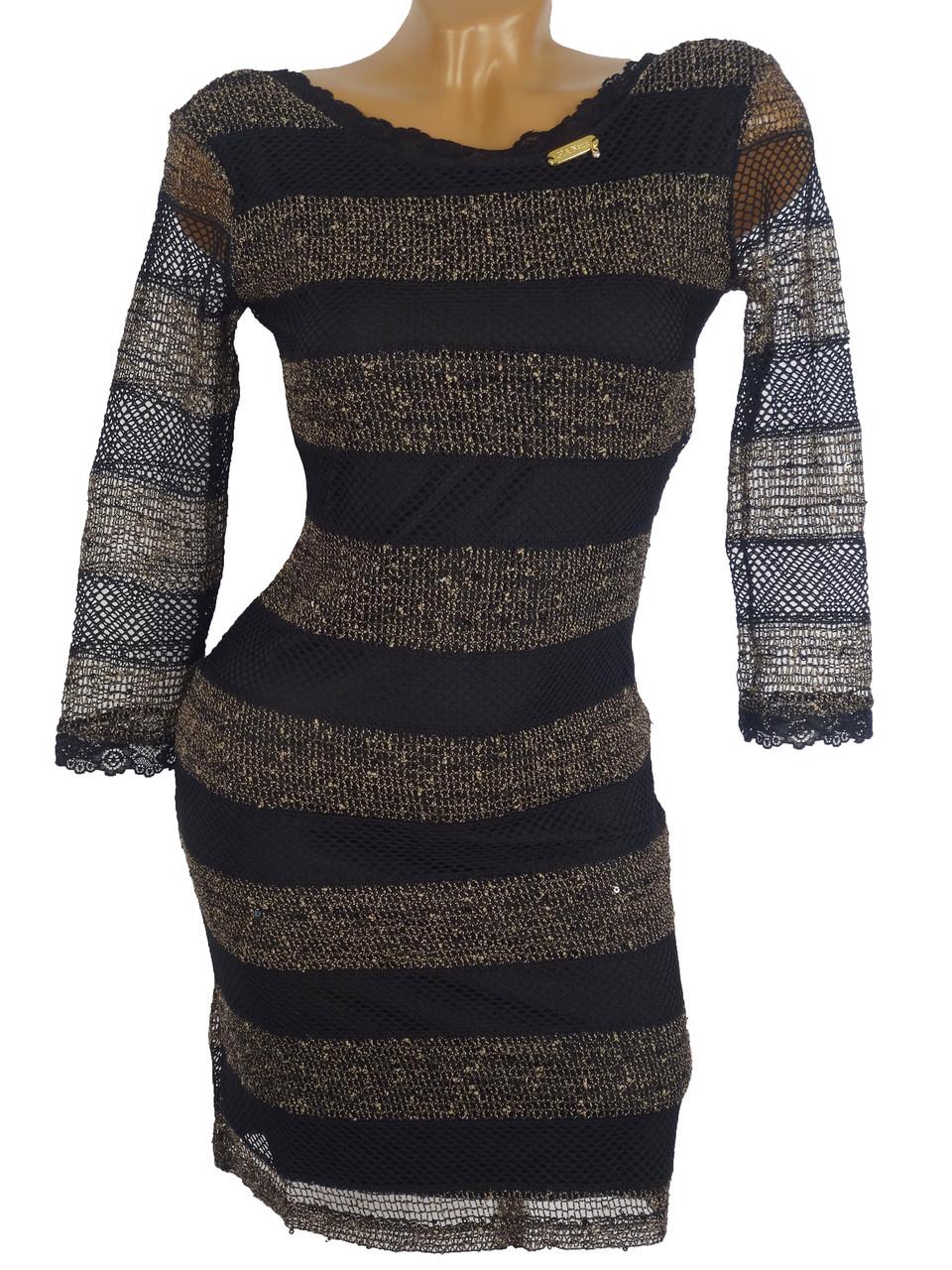 Оригинальное платье с пайетками (в расцветках 44-46)