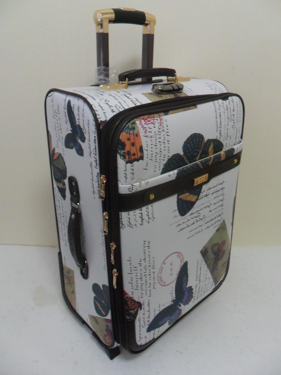"""Чемоданы 2-х колесные с отделом для ноутбука и портпледным отделением """"Бабочки""""."""