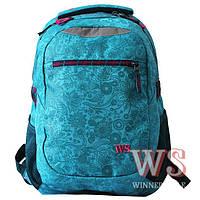 Рюкзак Winner Stile J-243 школьный подростковый два отдела для девочек 31см х 45см х 14см
