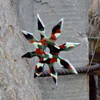 Сюрикен, метательная звездочка восьмиконечная, камуфляжная в чехле., фото 1