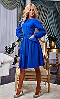 Стильное платье с расклешенной юбкой