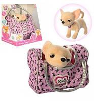 Интерактивная собачка в сумочке Кикки M 3482 UA (аналог Chi Chi Love)