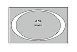 Зеркало с LED подсветкой 1200х800мм d58 (большое настенное зеркало) Лед, фото 3