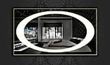 Дзеркало з LED підсвічуванням 1200х800мм d58 (велике настінне дзеркало) Лід, фото 2