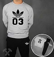 Спортивный костюм Adidas с логотипом лотос 03