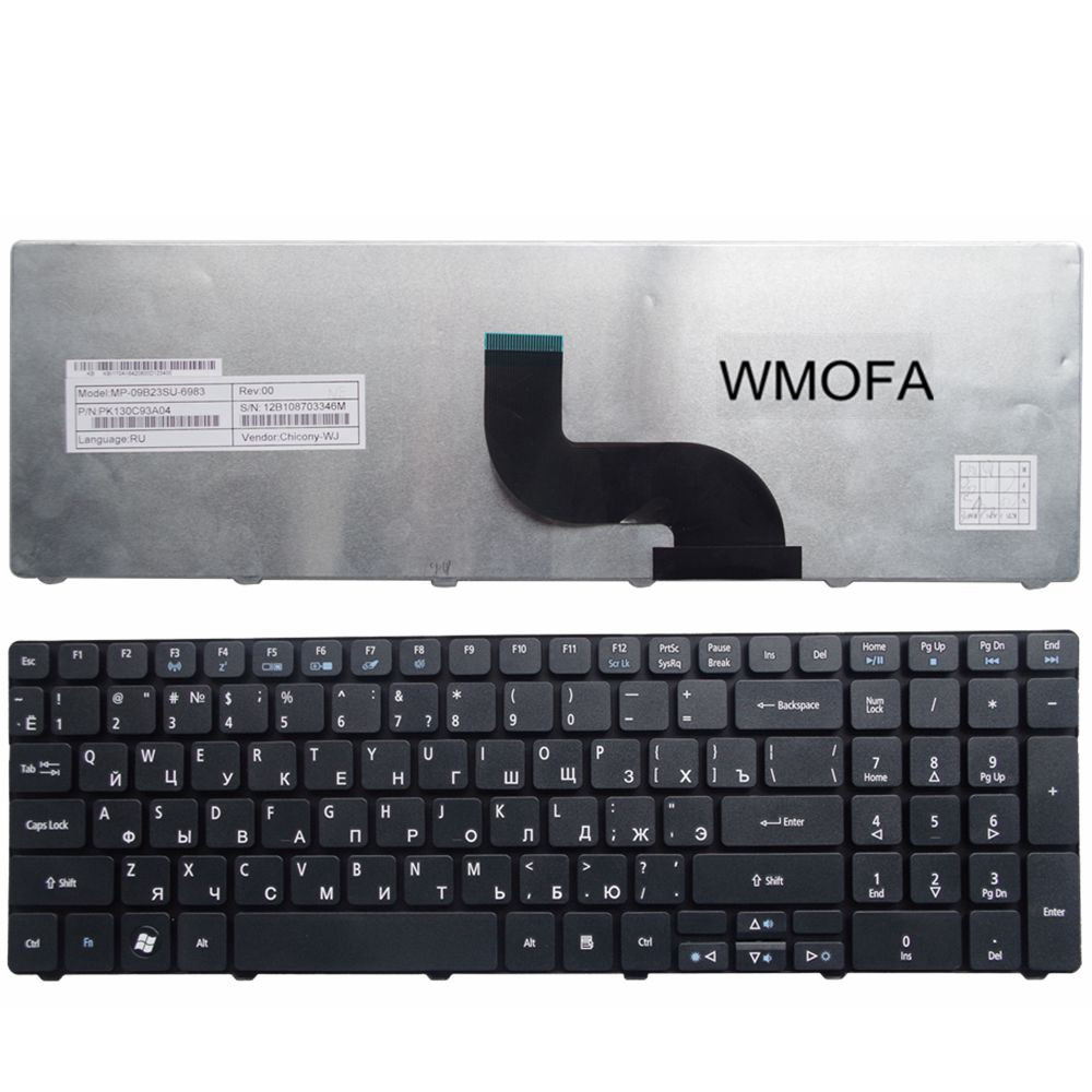 Клавиатура для ноутбука acer aspire 5553 rus, black