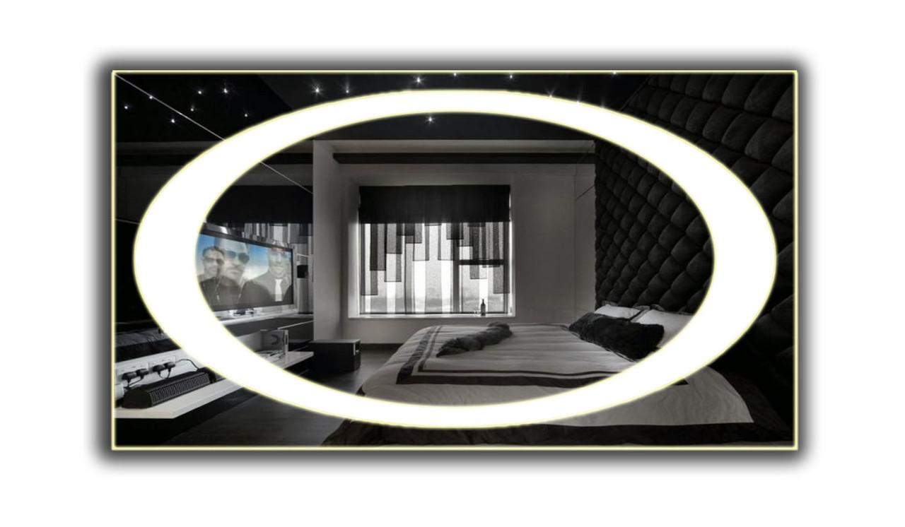 Дзеркало з LED підсвічуванням 1200х800мм d58 (велике настінне дзеркало) Лід