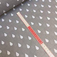 Ткань польская черные треугольники на белом, фото 1