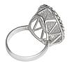 """Кольцо """"Гросс"""" с кристаллами Swarovski, покрытое родием (r633f000), фото 2"""